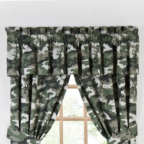 Browning Buckmark Camo Lined Cotton Rod Pocket Drape Panel
