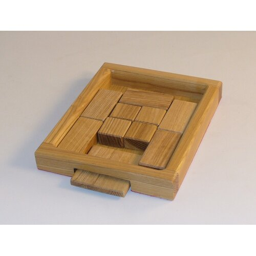 Square Root Wood Puzzle Game