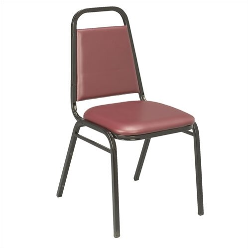 KFI Seating IM Series Vinyl Stacking Chair with Rectangular Back
