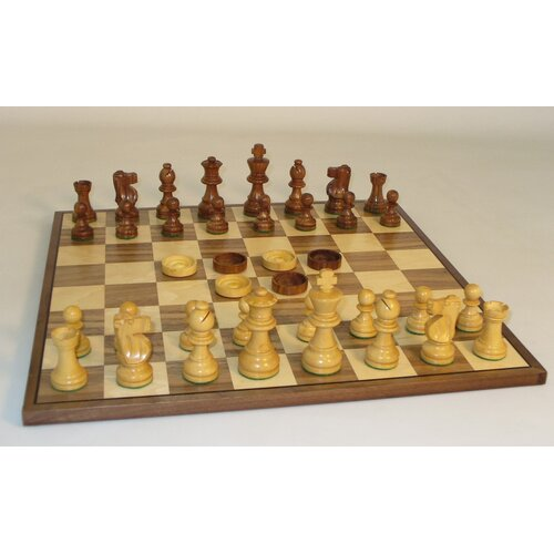 WorldWise Chess French Chess and Checker Set