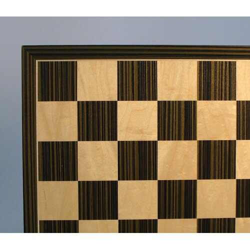 "WorldWise Chess 17"" Ebony and Maple Veneer Chess Board"