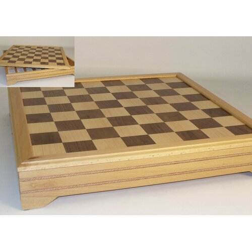 "WorldWise Chess 18"" Inlaid Beechwood Chest Chess Board"