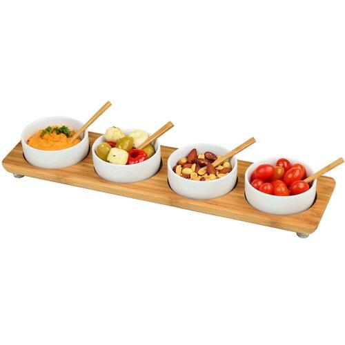 "Picnic At Ascot 17.2"" Rectangular Four Bowl Serving Dish"
