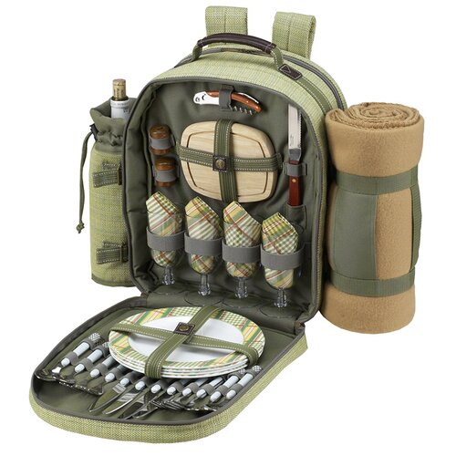 Hamptons Backpack with Blanket and Four Place Settings