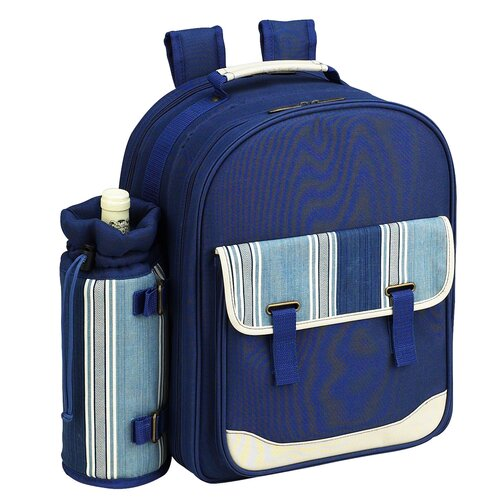 Picnic At Ascot Aegean Picnic Backpack with Two Place Settings