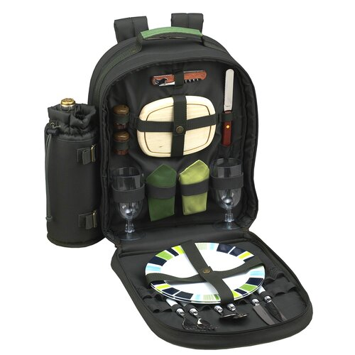 Picnic At Ascot Eco Picnic Backpack with Two Place Settings