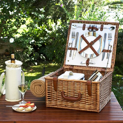 Picnic At Ascot Cheshire Basket for Two with Blanket in Santa Cruz