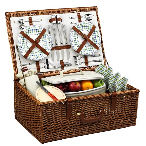 Picnic At Ascot Dorset Basket for Four in Gazebo
