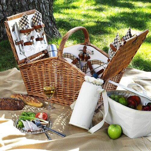 Picnic At Ascot Huntsman Basket for Four with Coffee Service in London