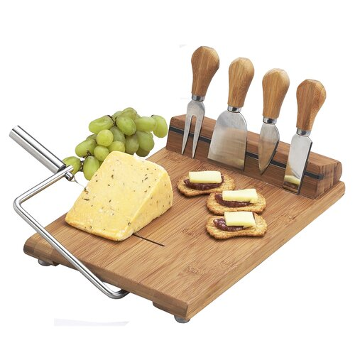 Picnic At Ascot Silton Cheese Board Set with Slicer
