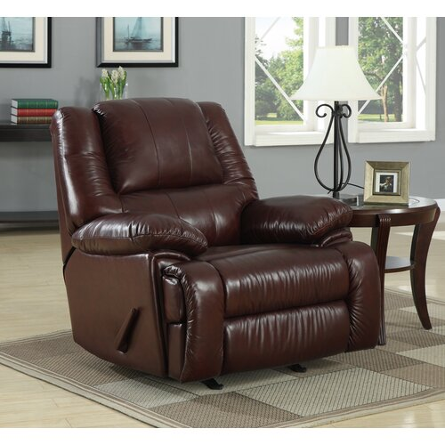 At Home Designs Cascadia Leather Chaise Recliner