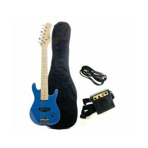 Stedman Pro Kids Electric Guitar in Metallic Blue