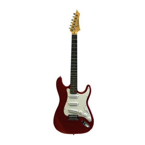 Stedman Pro Electric Guitar with Gig Bag and Cable in Metallic Red