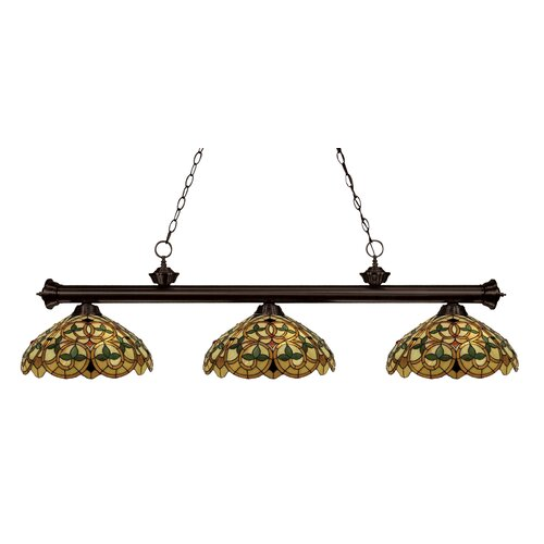 English Ivy 3 Light Kitchen Island Pendant