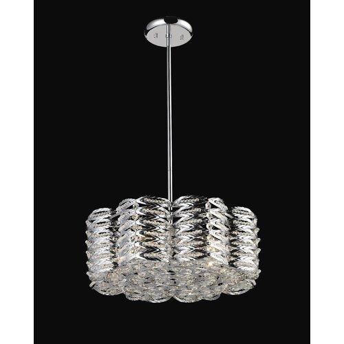 Z-Lite Adara 5 Light Crystal Chandelier in Chrome
