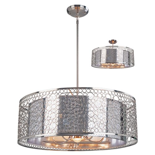 Z-Lite Saatchi 3 Light Drum Foyer Pendant