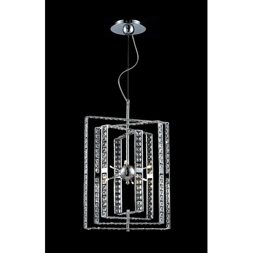 Aurora 6 Light Crystal Chandelier