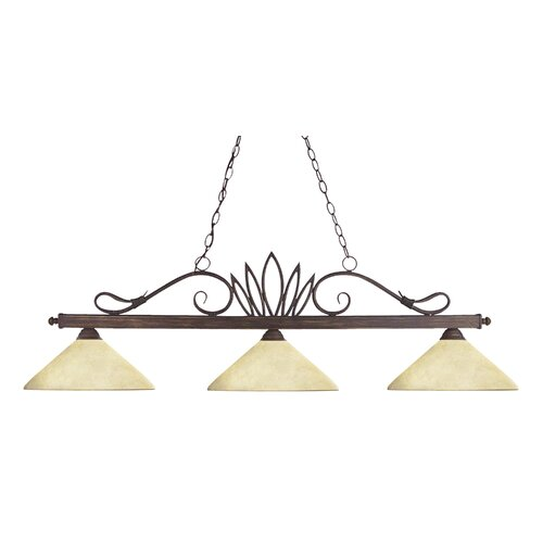 Z-Lite Crown 3 Light Billiard Pendant