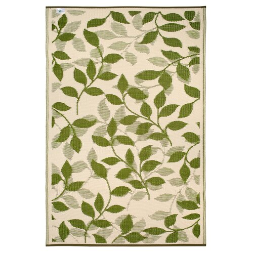 World Bali Forest Green/Cream Indoor/Outdoor Rug
