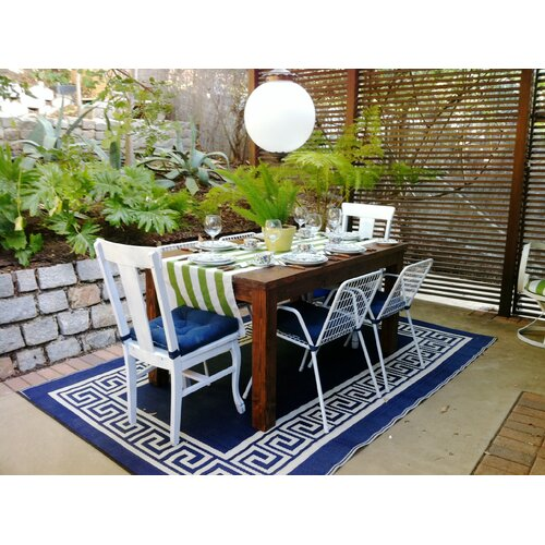 Fab Rugs World Athens Midnight Blue/Cream Indoor/Outdoor Rug