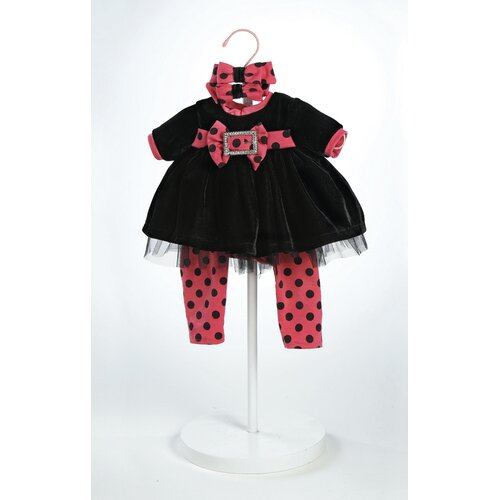 "Adora Dolls 20"" Baby Doll Black Velvet  Costume"