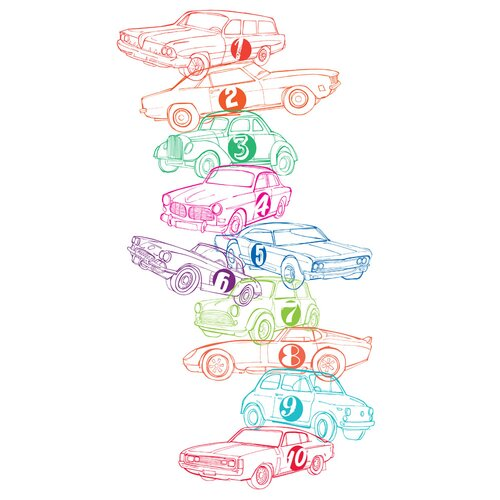 Luca and Company Artwork-123 Cars Canvas Art