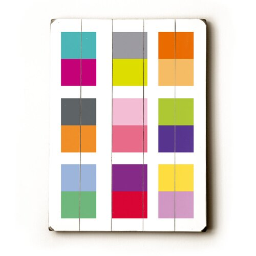 Color Squares Wood Sign