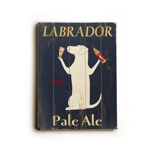 Artehouse LLC Labrador Planked Vintage Advertisement Plaque
