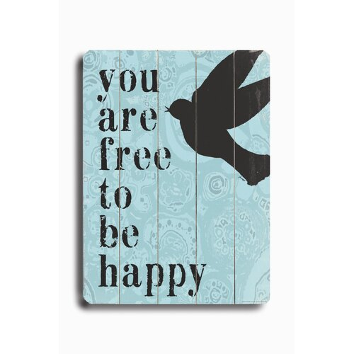 Artehouse LLC Free to be Happy Textual Art Plaque