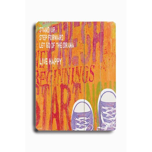 Artehouse LLC Stand Up Planked Textual Art Plaque