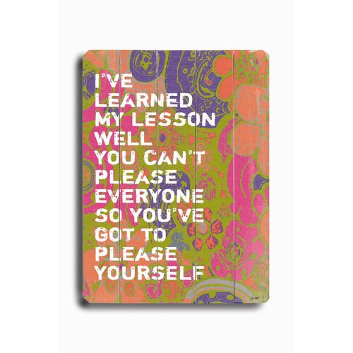 Artehouse LLC I've Learned Planked Textual Art Plaque