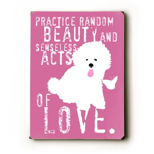 Artehouse LLC Practice Random Beauty Textual Art Plaque