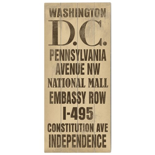 Artehouse LLC Washington DC Transit Textual Art Plaque