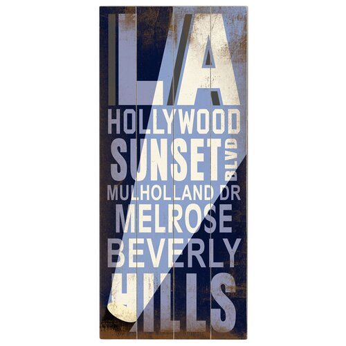 Artehouse LLC La Hollywood Transit Textual Art Plaque
