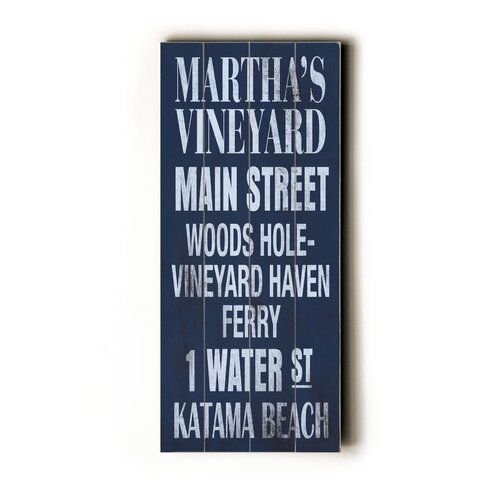 Artehouse LLC Martha's Vineyard Transit Textual Art Plaque