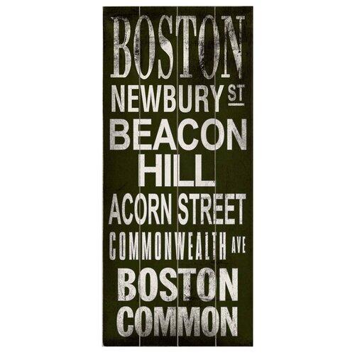 Artehouse LLC  Boston Transit Beacon Hill Textual Art Plaque
