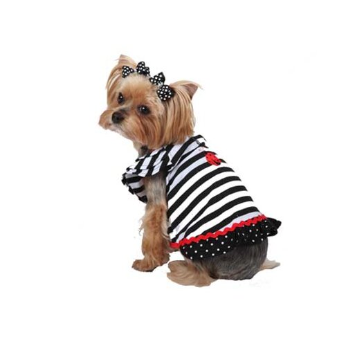 Striped Lady Bug Dog Dress