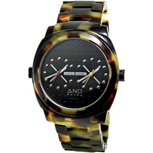 And Watch 49mm Xenophon Watch in Brown Circle Case