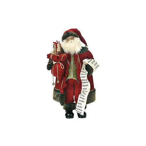 Regency International Standing Santa with List Figurine