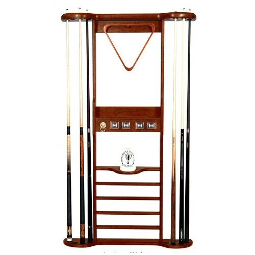 Solid Wood 8 Place Pool Cue Rack