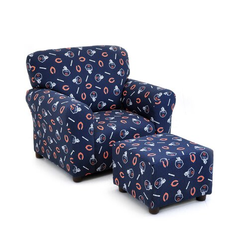 Chicago Bears Kids Club Chair and Ottoman