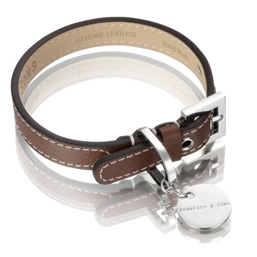Saffiano / Hand Made Leather Dog Collar