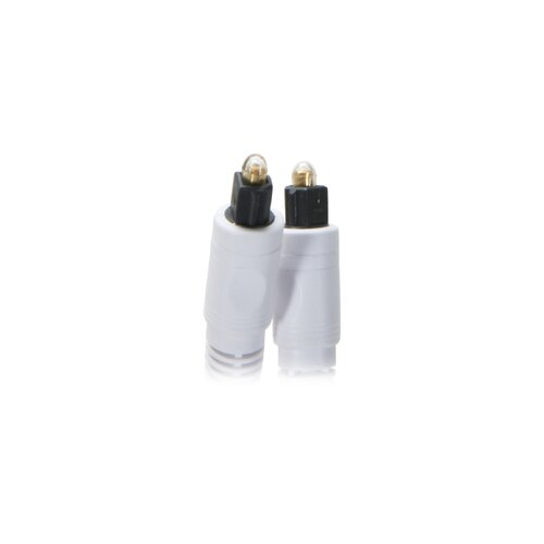 """Nippon Labs 144"""" Pro A/V Premium Toslink Digital Optical SPDIF Audio Cable Male/Male in White"""