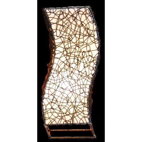 """House of Asia Imports Sukorn 20"""" H Table Lamp with Square Shade"""