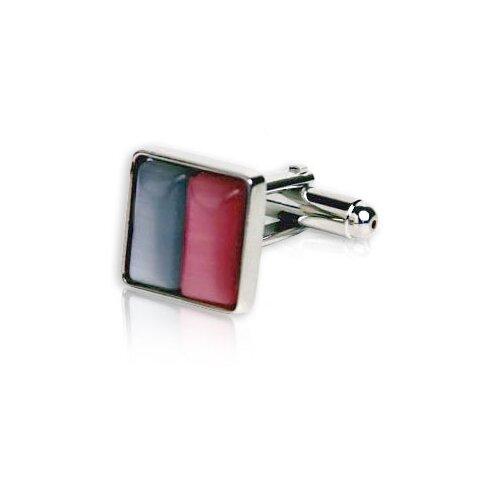 Cuff-Daddy Glass Cufflinks in Silver / Pink