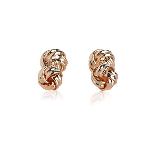 Cuff-Daddy Double Knot Cufflinks in Rose Gold