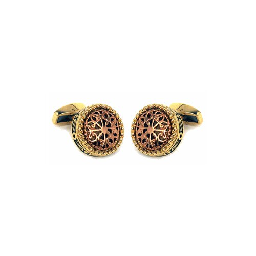 Cuff-Daddy Filigree Gold Stainless Steel Cufflinks