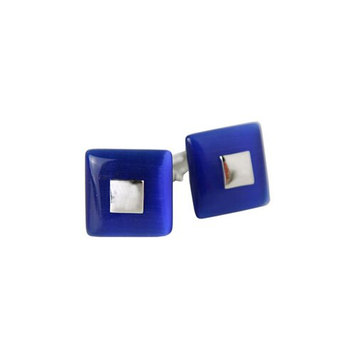 Riveting Cufflinks in Blue