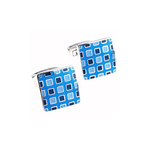 Cuff-Daddy Pixelated Cufflinks in Blue