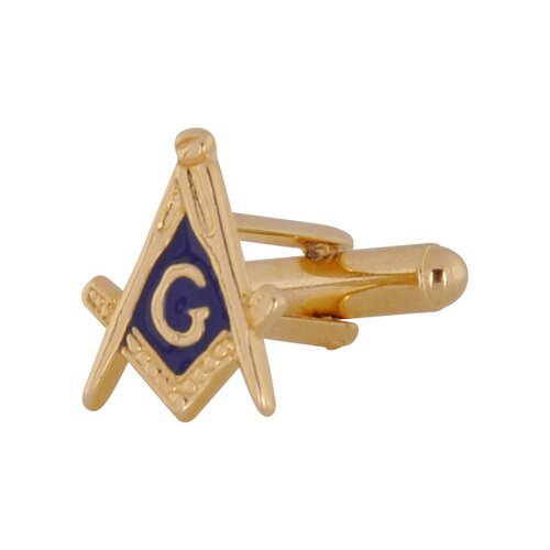 Cuff-Daddy Masonic Cufflinks in Gold